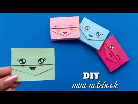 DIY MINI NOTEBOOKS ONE SHEET OF PAPER - DIY BACK TO SCHOOL / Origami craft /Origami craft with paper