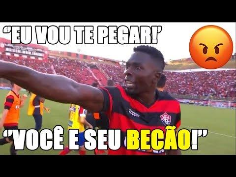 Kanu ameaça e diz que vai pegar Edson e Rodrigo Becão no Ba-Vi [VITÓRIA 1 X 1 BAHIA]