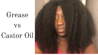 I tried CASTOR OIL instead of GREASE on my natural hair, BUT...