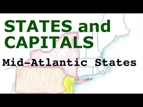 US States and Capitals, Mid Atlantic States