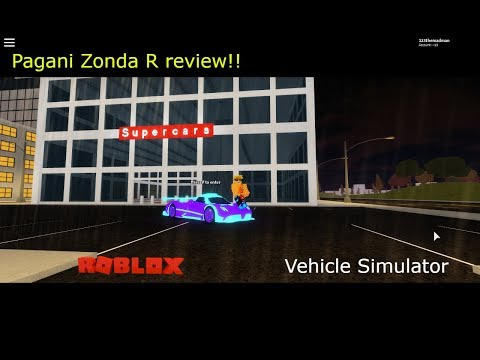 I'm back!! Pagani Zonda R review | Roblox Vehicle Simulator