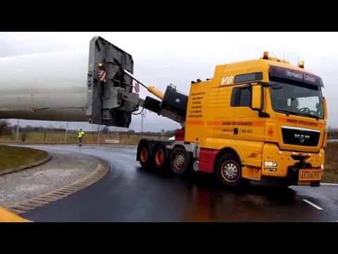 HOW TO TRANSPORT A 73,5 METER WINDMILL BLADE