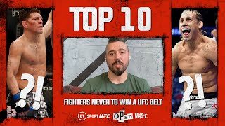 Dan Hardy's top 10 best UFC fighters NEVER to win a title   Open Mat