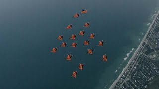 Stunning Wingsuit Formation