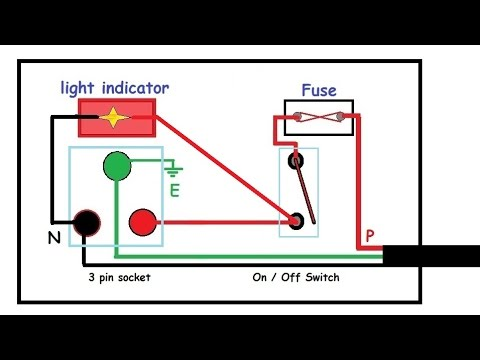 Switchboard Wiring Diagram Ge Shunt Trip Circuit Breaker Electric Board Connection In Hindi - Youtube