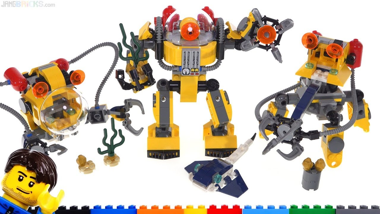 Lego Creator 3 In 1 Underwater Robot Review 31090 Youtube