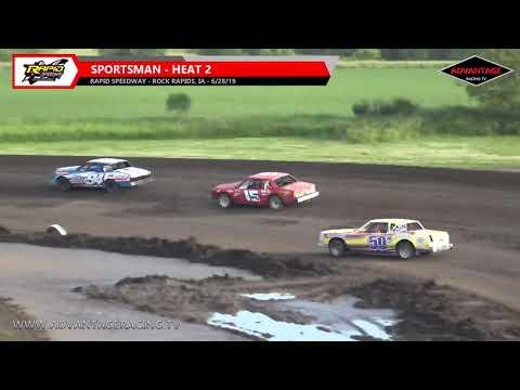 Sportsman/A Modified Heats - Rapid Speedway - 6/28/19