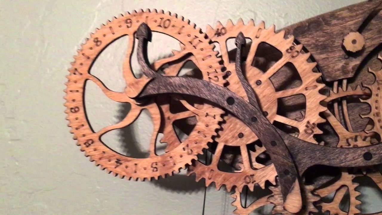 Abong Wooden Clock Kit - Timing - YouTube
