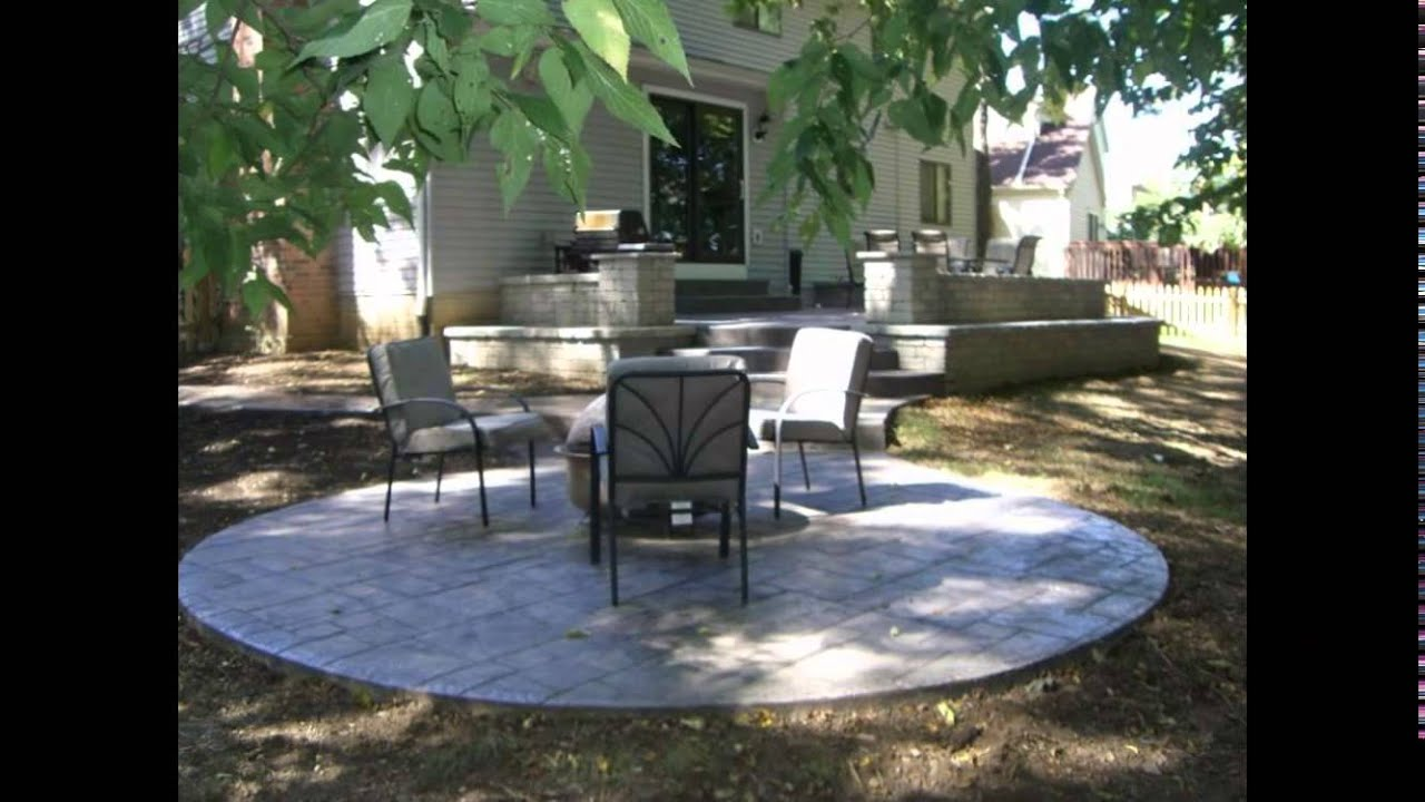Concrete Patio Designs Stamped Concrete Patio Designs YouTube