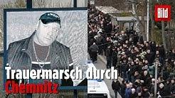 Hunderte bei Marsch für toten Neonazi in Chemnitz