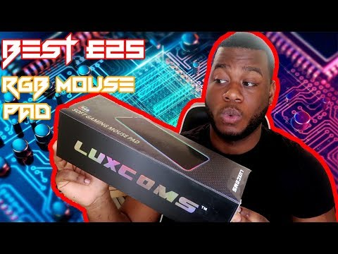 BEST £25 GAMING LED - RGB MOUSE PAD- LUXCOMS GAMING MOUSE PAD