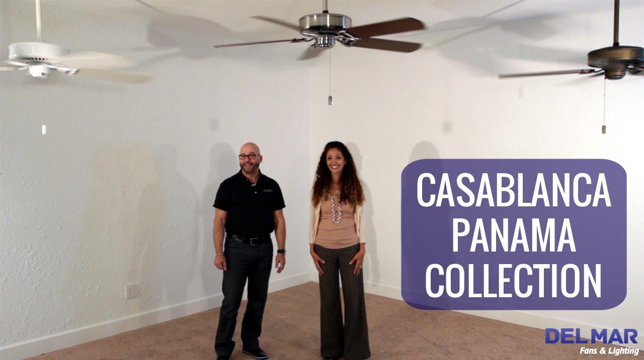 casablanca panama ceiling fan collection