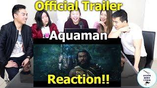 Aquaman - Official Trailer 1   Reaction - Australian Asians