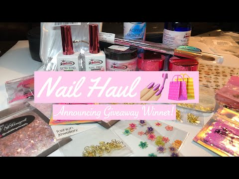 Nail Haul + Giveaway Winner | Nail Supply Glamour, Nails Blinged Supply, AliExpress, & Amazon thumbnail
