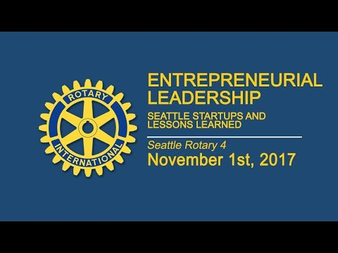 Rotary Luncheon November 1st 2017 Entrepreneurial Leadership