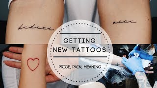 Getting A New Tattoo | Price, Pain, Meaning