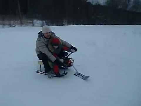 видео: Как сделать детский снегоход (буран) своими руками, прикол, ржач