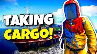 TAKING THE CARGO SHIP 3 HOURS AFTER WIPE! - Rust Survival #01
