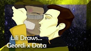 |SpeedPaint| Geordi La Forge x Data Soong