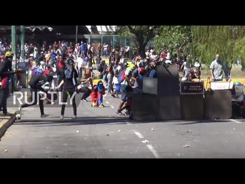 Venezuela: Rage spills over at protest against economic crisis, police death