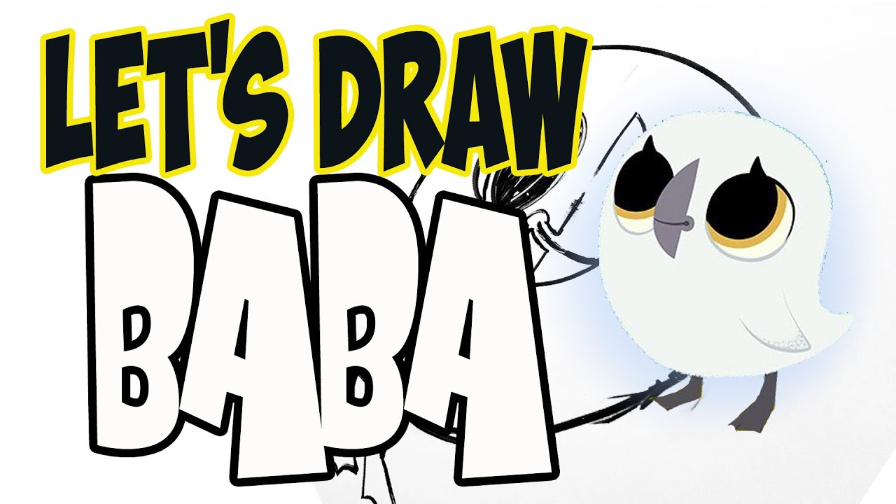 Drawing Baba from Puffin Rock! (Basic shapes and lines) - YouTube
