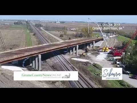 Drone Video of the US 30 Overpass Prep & Pouring Concrete