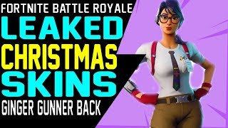 NEW FORTNITE CHRISTMAS LEAKED SKINS Ginger Gunner Frozen Red Knight Frozen Love Ranger Frozen Raven