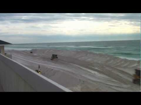 Beach dredge time lapse from Destin Florida