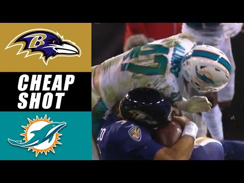 Kiko Alonso DIRTY Hit on Joe Flacco