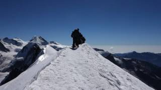 360 Breithorn(4164m), rando glaciaire, Zermatt, Valais, Suisse, 27-8-2016