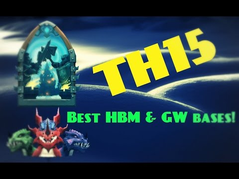 Castle Clash; TH15 BEST HBM & GW Bases!