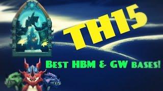 Castle clash; TH15 BEST HBM & GW bases!
