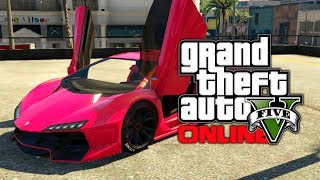 "GTA 5 Online: SECRET ""Vice City"" Style Neon Pink Paint Job! (GTA V)"