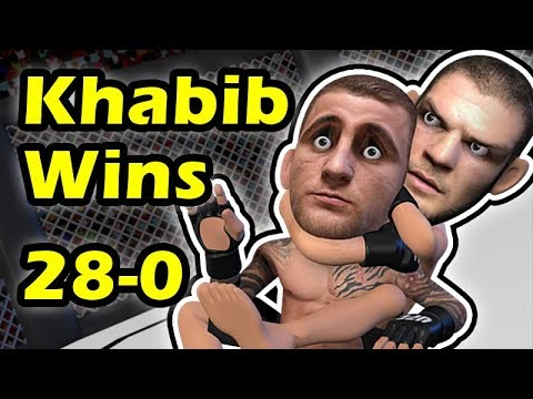 Khabib Nurmagomedov Submits Dustin Poirier & retain his Title at UFC 242