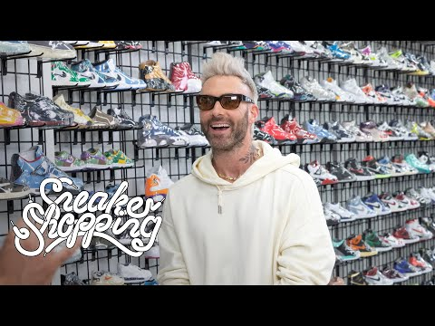 Adam Levine Goes Sneaker Shopping With Complex