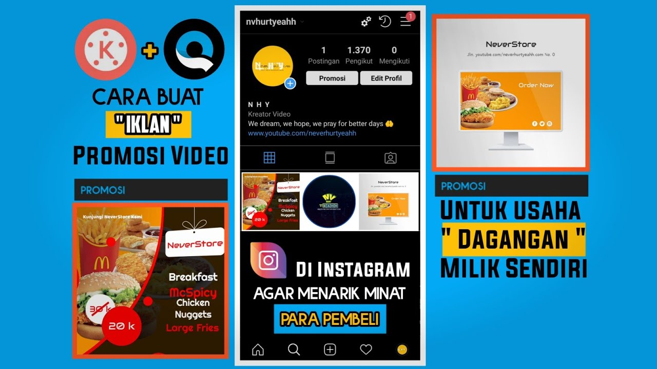 Cara Buat Video Iklan Di Android Bikin Iklan Sederhana Pakai Kinemaster Tutorial Kinemaster Youtube