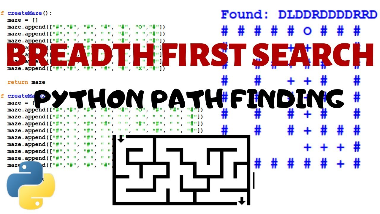 Python Path Finding Tutorial - Breadth First Search Algorithm