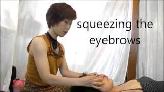 りらく屋/眼精疲労・クマを改善するフェイシャルマッサージ Japanese facial massage thumbnail