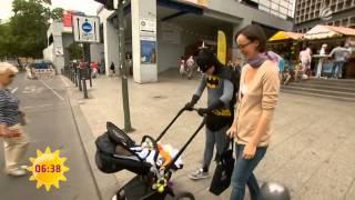 Super-Paschke als Held auf der Straße   Sat.1 Frühstücksfernsehen