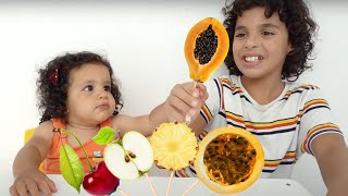 sami and amira eat fruit - Daddy Finger Nursery Rhymes
