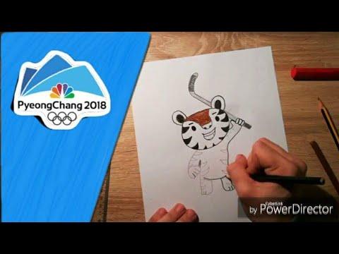 How To Draw: SOOHORANG   PyeongChang 2018 Mascot   Winter Olympic Games