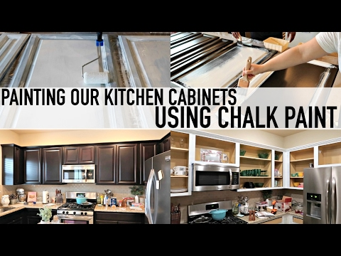 how to paint your kitchen cabinets with chalk paint youtube rh youtube com