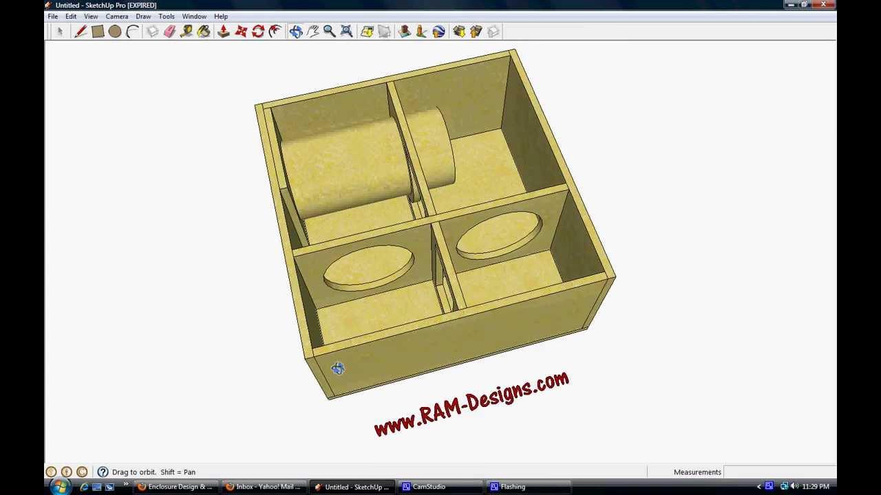 ram designs jl w3v3 10 bandpass sub box design youtube