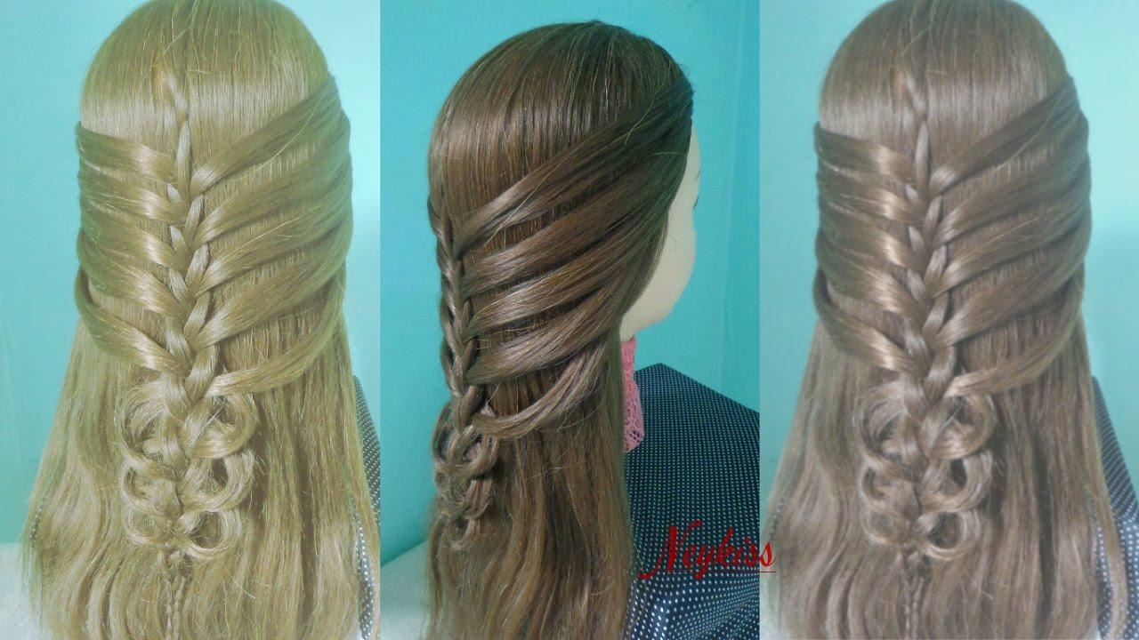 Trança Combo Trança Embutida Com Cabelo Solto Penteado Para Cabelos Longos E Médios