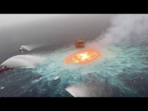 'Eye of fire' under control after underwater gas leak