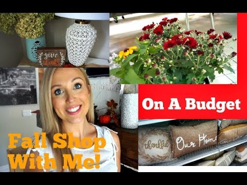 Fall Decor SHOP WITH ME! and DECORATE! BUDGET FRIENDLY
