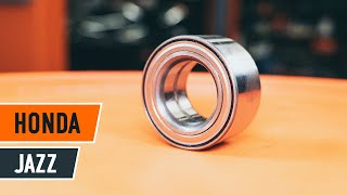 How to solve the problem with HONDA rear and front Wheel hub bearing: video guide
