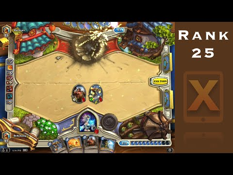 Hearthstone Ranked Game Play - Part 3 - Mage Vs. Shaman (Rank 25)