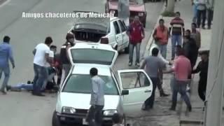 Trifulca en calles de Mexico pelea