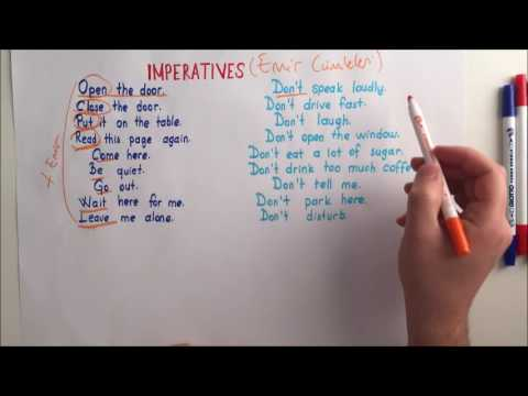 Imperatives in English